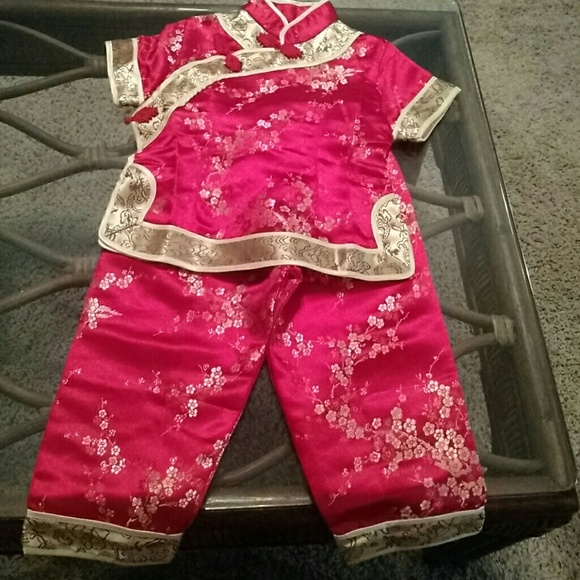 double peach Other - GREAT CONDITION Chinese Child Two Piece